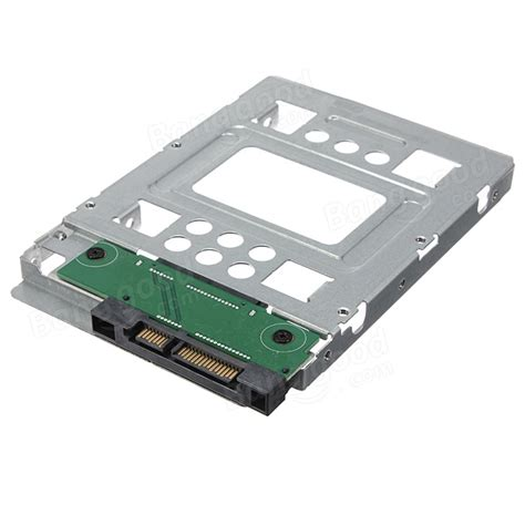Hdd Ssd 2 5 Inch To 3 5 Enclosur Hitam 2 5 inch ssd to 3 5 inch sata hdd disk drive adapter