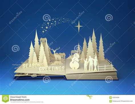 themes for the story winter dreams pop up book christmas story stock illustration