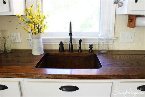 diy wood plank countertops diy wide plank butcher block counter tops simplymaggie