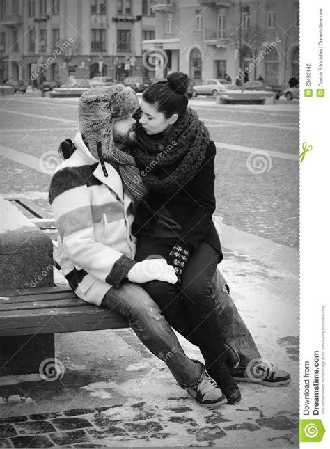 A Couple In Retro Style Kissing Stock Photography - Image
