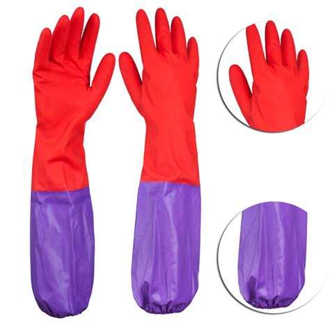 Clean Sleeve Wash 50cm kitchen wash dishes cleaning waterproof sleeves rubber gloves