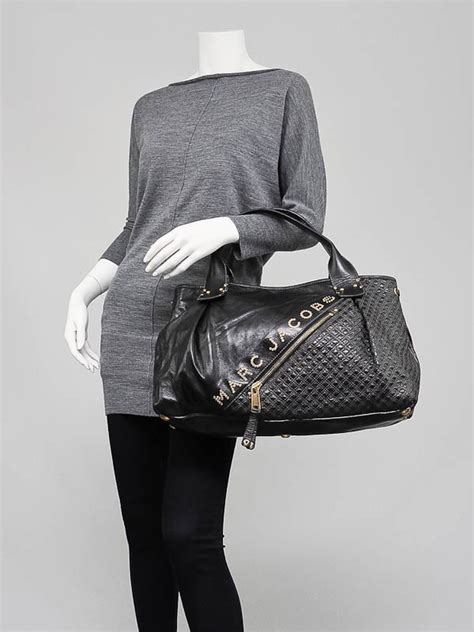 Marc Large Quilted Tote by Marc Black Quilted Leather Irina Large Tote Bag