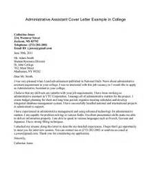 Assistant Cover Letter Exles by Cover Letter Administrative Assistant Jvwithmenow