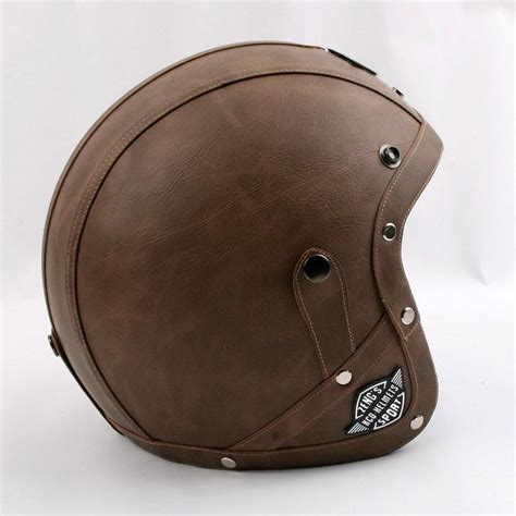leather motorcycle helmet brand kco motorcycle helmet retro pu leather open