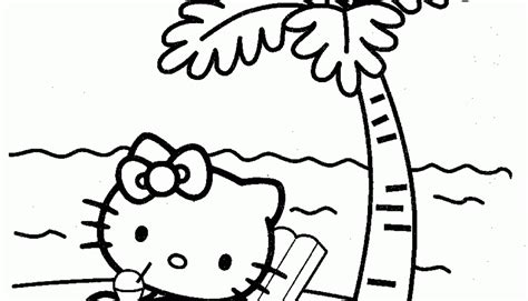 hello kitty beach coloring page hello kitty beach coloring pages timykids