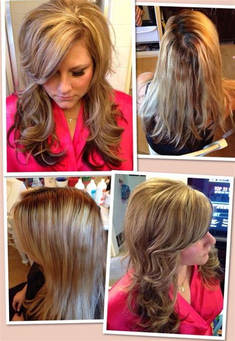 hairstyles with bangs highlights and low lights 78 images about blonde hair styles on pinterest dark