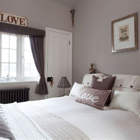 elephant s breath paint from farrow in a bedroom setting with grey charcoal and silver