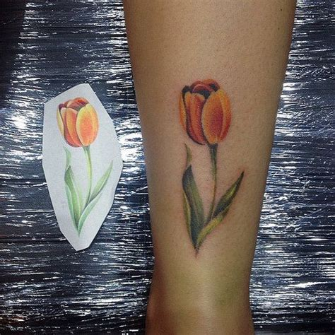 watercolor tulip tattoos 82 tulip tattoos meanings and ideas