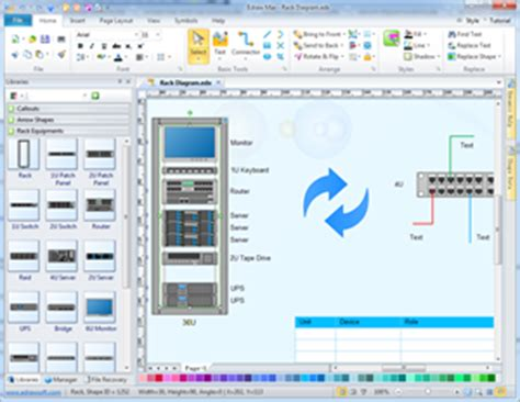 network rack layout software rack diagram network diagram solutions