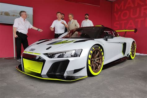 audi  lms gt revealed  goodwood festival  speed evo