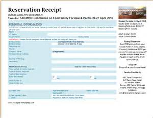 flight booking template printable formal reservation receipts templates receipt