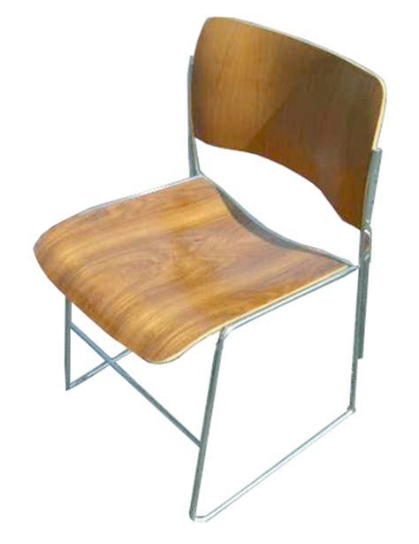 vintage eames era gf rowland 40 4 stacking chair ebay