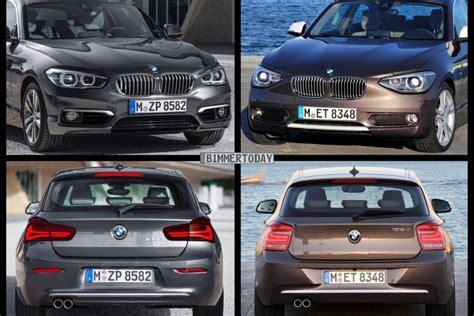 Bmw 1er Facelift Unterschiede 2015 bild vergleich bmw 1er 2015 im vergleich zum vor facelift f20