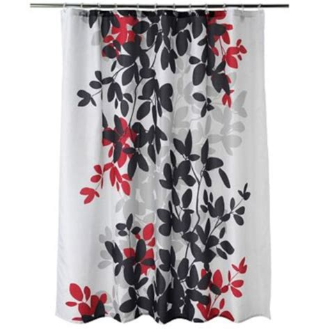 red black and gray curtains zen floral black gray burgundy white quality luxury fabric