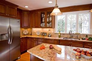kitchen colors with brown cabinets