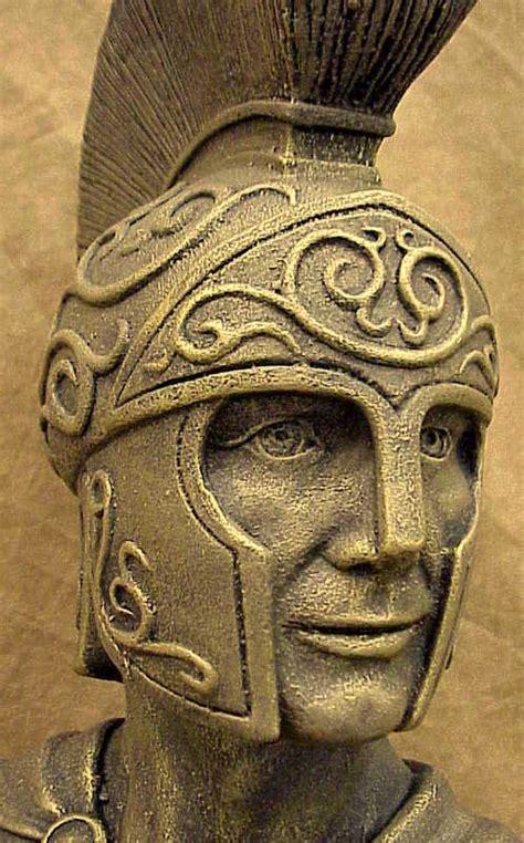 Ancient Egyptian Home Decor by Greek Roman Art Spartan Bust Soldier Statue Sculpture Ebay