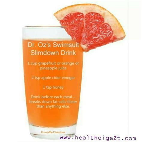 Dr Oz Detox Drink by Dr Oz S Swimsuit Slimdown Drink Healthy Juices