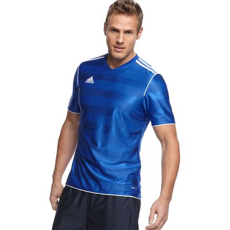Tshirt Adidas Soccer adidas t shirt tabela 11 climalite soccer jersey in blue