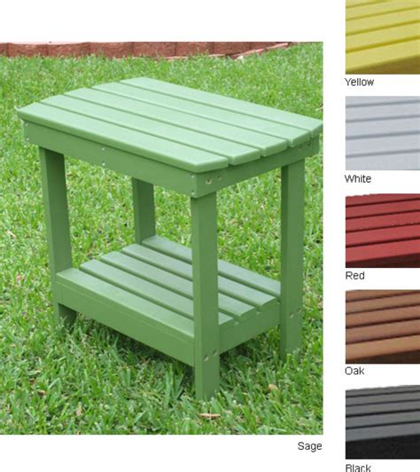 hardwood end table outdoor accent tables outdoor shop two tier indoor outdoor wood side table overstock com
