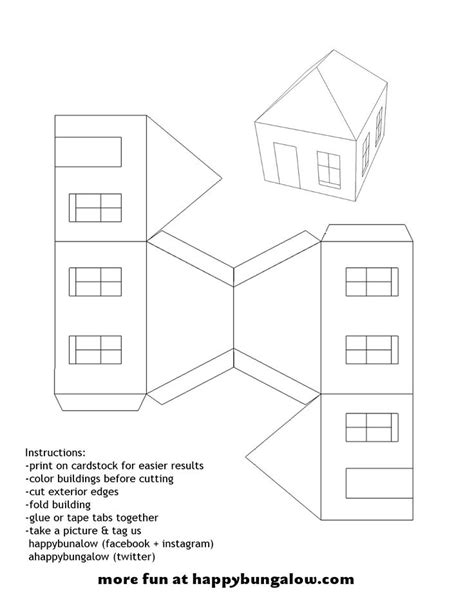 printable paper house template 17 best images about templates on putz houses