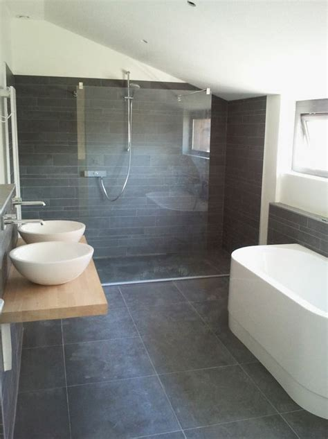 Grey Bathroom Floor Tiles by 40 Grey Slate Bathroom Floor Tiles Ideas And Pictures