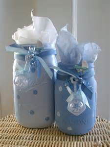 boy baby shower painted jars boy baby shower