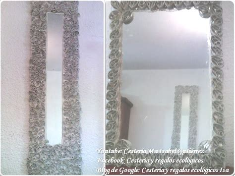 decorar un espejo con papel espejo decorado con tubos de cart 243 n higi 233 nico youtube