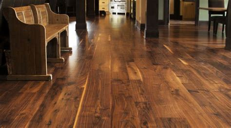 Rustic Hardwood Flooring Wide Plank Growth Antique Walnut Wide Plank Flooring From Jewett