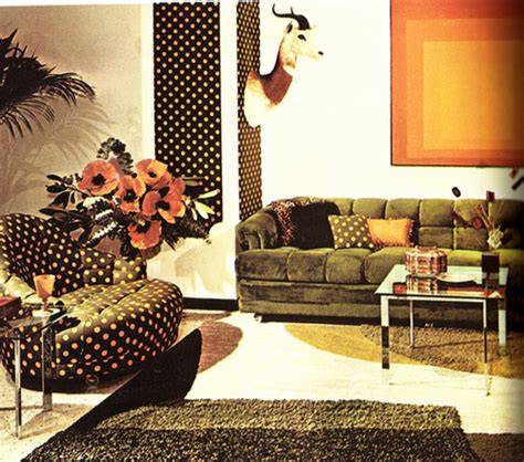 70s style living room 70s retro living room design bookmark 6253