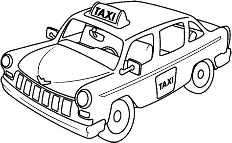 Taxi Coloring Page printable big taxi coloring pages for 2014 coloring