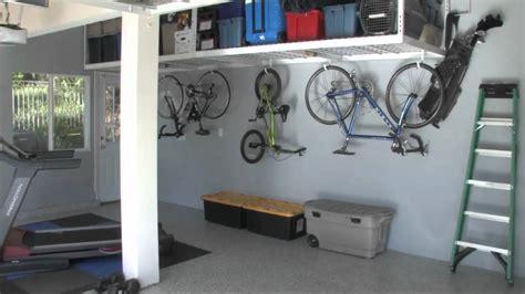 garage hanging storage garage overhead storage racks saferacks