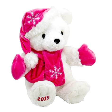 trim a home 174 18 quot holiday bear pink seasonal christmas