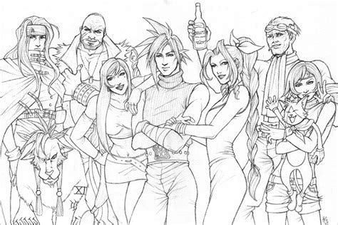 final fantasy 7 players sketch by ludi price on deviantart