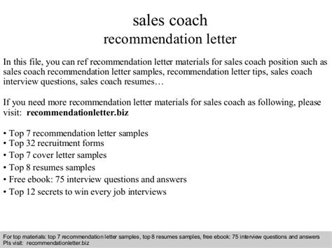 Recommendation Letter For College From Coach Sales Coach Recommendation Letter