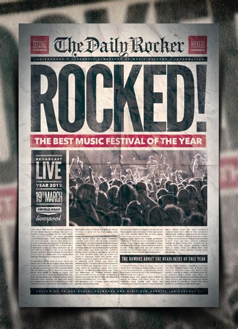 newspaper layout for photoshop grunge newspaper poster template vol 2 by indieground on