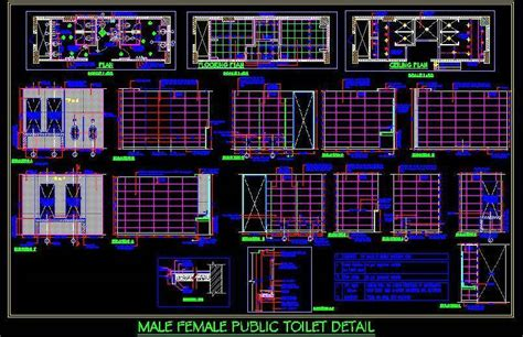 3d Bathroom Design Software Male Female Public Toilet Working Drawing Plan N Design