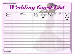 wedding guest list template free 37 free beautiful wedding guest list itinerary templates