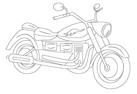 Free Coloring Pages Of Car And Motorcycle