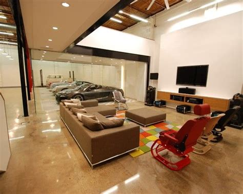 living in a garage garage design media rooms and showroom design on pinterest