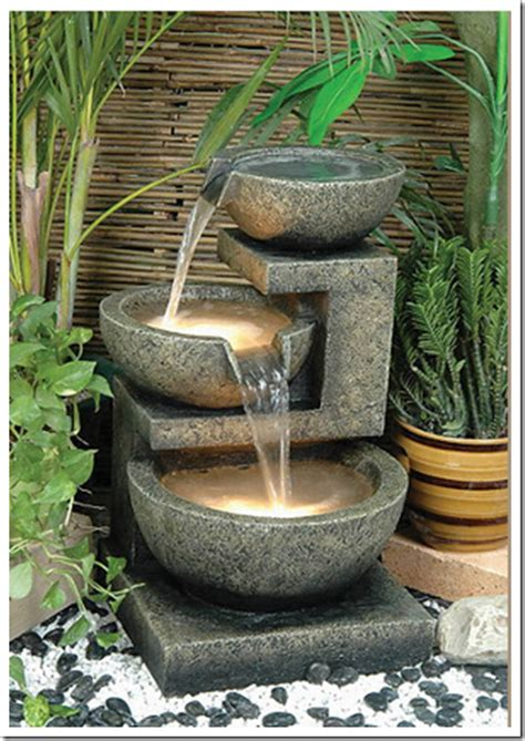 chic outdoor water features decorating - Outdoor Water Features