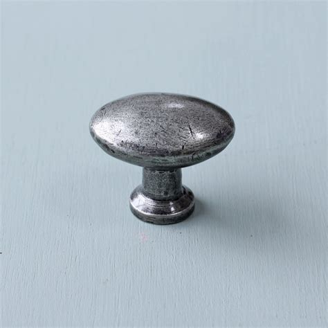 Pewter Cabinet Knobs pewter oval cabinet knob