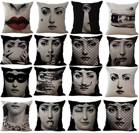 cuscini fornasetti federa cuscino di lino cotone decor copertura per vintage