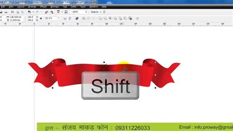 tutorial corel draw x4 banner learn coreldraw tutorial in hindi 16 banner