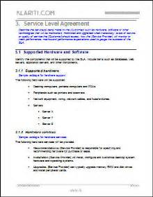 Terms And Conditions Of Quotations Template by Service Level Agreement Template 2 Ms Word 3
