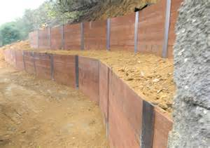 how to build a retaining wall on a slope with sleepers