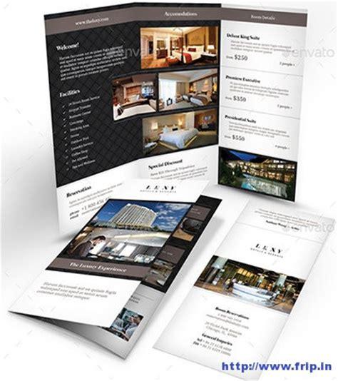 brochure template resort 50 best hotel brochure print templates 2016 frip in