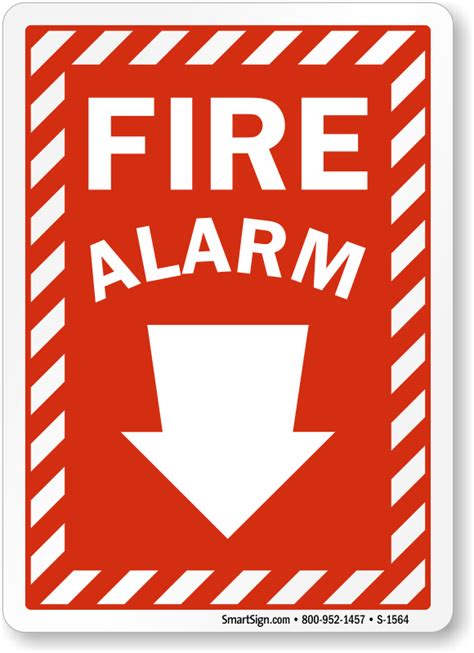 Alarm Emergency and emergency alarm sign sku s 1564