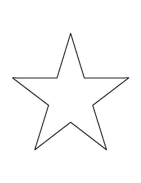 printable star ornament template 7 inch star pattern use the printable outline for crafts