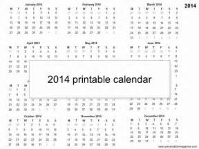 2014 one page calendar template large yearly calendar 2014 printable one page calendar