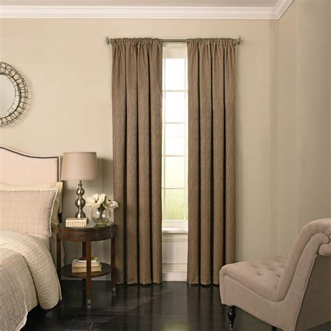 Designer Curtains 4773 by Home Decorators Collection Semi Opaque Taupe Faux Linen